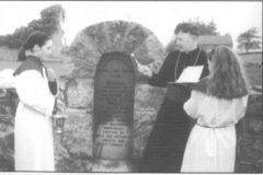 Archbishop Michael Neary blessing the Workhouse Memorial, 1995