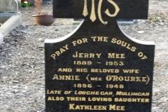 Jeremiah Mee Headstone, Glasnevin Cemetery