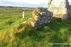 North wall of derelict  Boyounagh Church