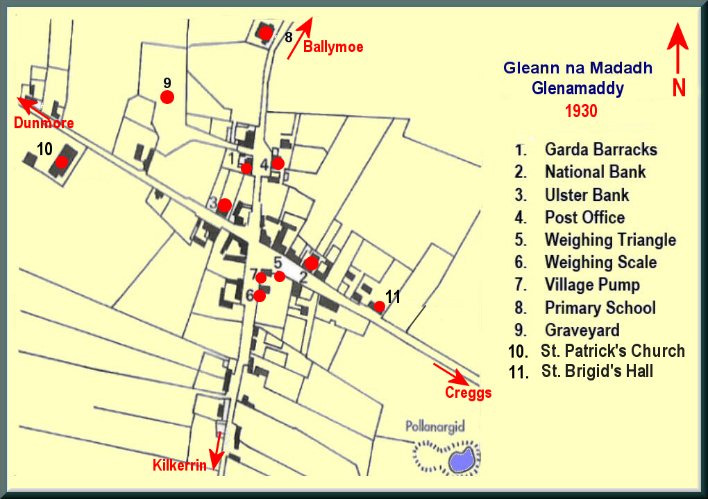 1930_Glenamaddy Town Map