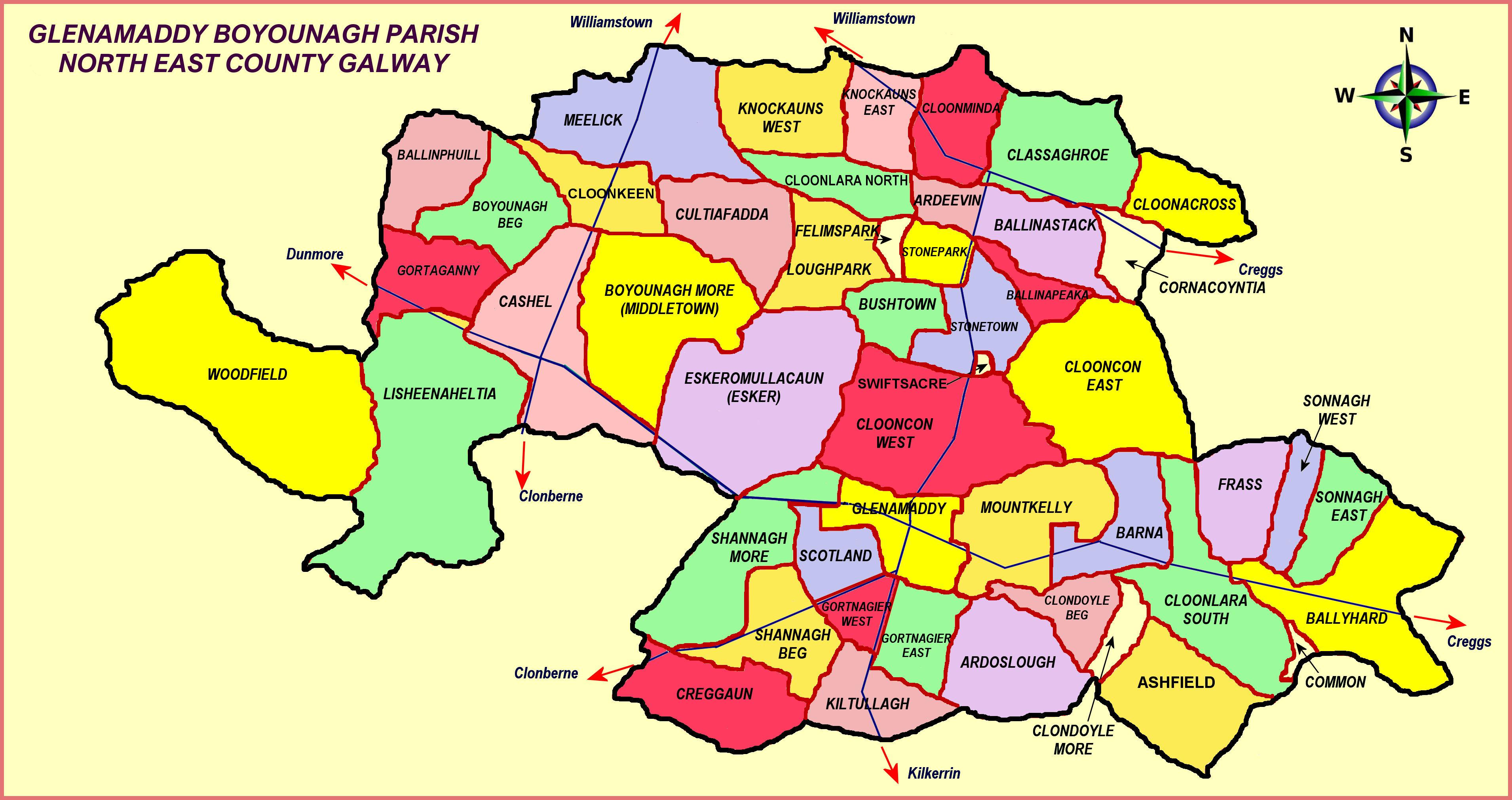 Glenamaddy Parish Map