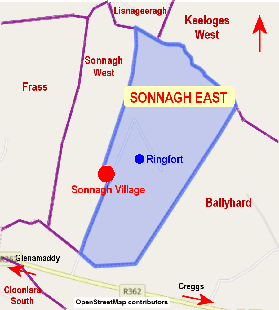 Sonnagh East Townland