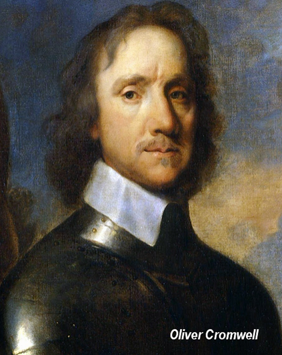 Oliver Cromwell oversaw the confiscation of Catholic lands in 1650s