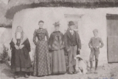 Paddy Bawn far right, Ballyhard, with family