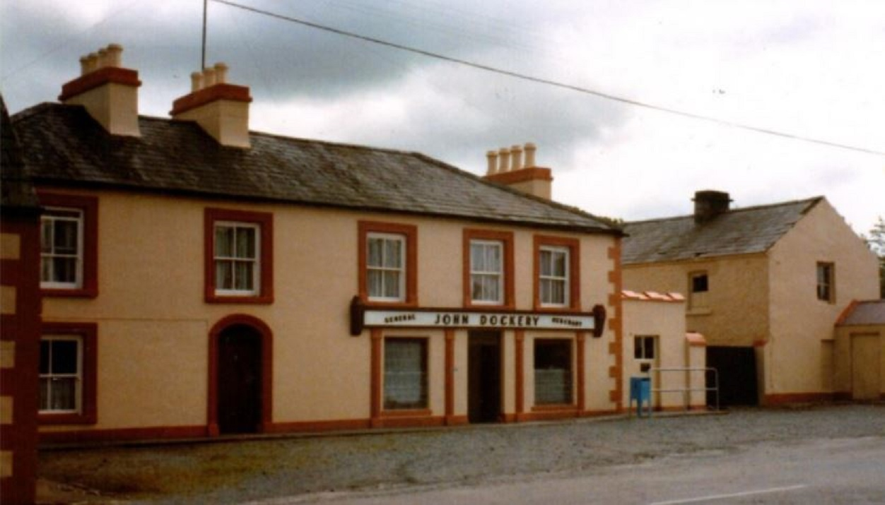 Dockrey's Shop and Post Office, Ballymoe Road, in the 1970s