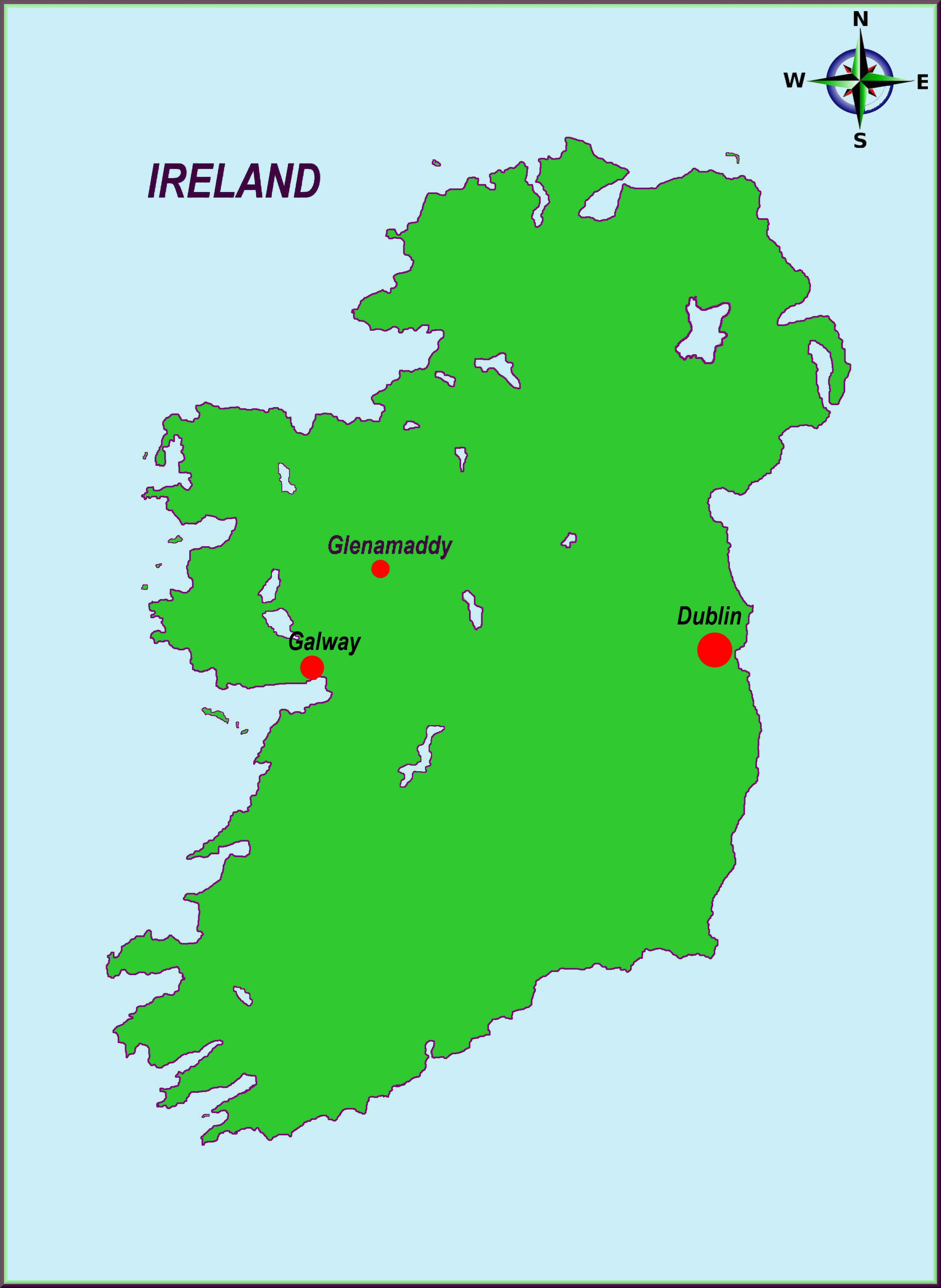 Map Of Northern Ireland Counties And Towns.Glenamaddy Town
